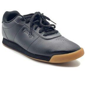 Reebok womens PRINCESS Sneakers, Black, 8.5US